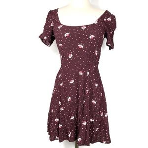 & Other Stories Floral Fit n Flare Dress Size 2